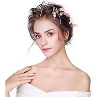 Artificial feather Alloy Flowers 3PCS Headpiece