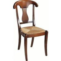 Lot 2 chaises paille Guérande merisier, palmette