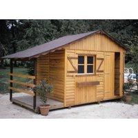 Abri de jardin C.I.H.B. Maine 2000, plancher et bucher