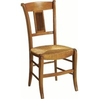 MARGOT lot 2 chaises dos palmettes, merisier