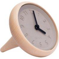 Toupie horloge de table en bois et béton