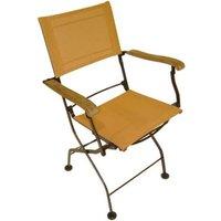Lot de 2 fauteuils pliants en fer forgé et textilène