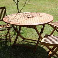 Table ronde Sophie diamètre 120 cm Eucalyptus