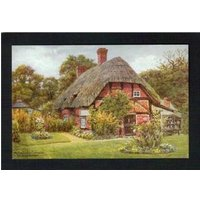 Historic coloured picture postcard (postally unused): Arts Guild Cottage, Brockenhurst