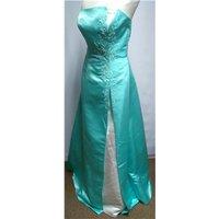 Bella Formals Prom Gown Venus Size 10 Green A-line Dress