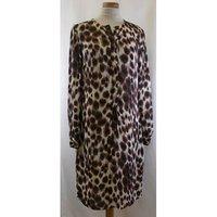 L.k. Bennett - Size: 6 - Brown - Knee Length Dress