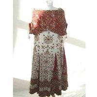 Lehenga Dupatta Indian Wedding Dress Lehenga Dupatta - Size: M - Multi-coloured - Full Length Dress