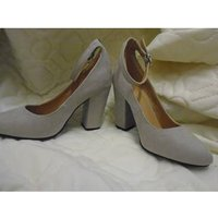 Image of Grey M &S Women's shoes. M&S Marks & Spencer - Size: 3 - Grey - Heeled shoes