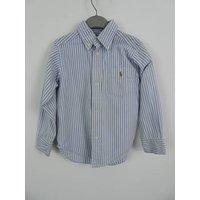 Ralph Lauren Size: 2 - 3 Years Blue & White Striped Shirt