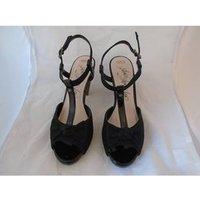 Image of MARK & SPENCER BLACK HEELS SANDALS M&S Marks & Spencer - Size: 5.5 - Black - Sandals
