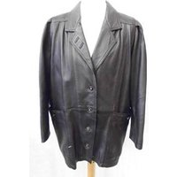 Image of Genuine Leather - Size: M - Black - Leather coat