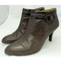 Image of Sofft - US Size 8.5 (6.5 UK) - Chocolate Brown - Leather - Ankle Boots