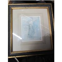 a.Rodey Signed Drawing in a wooden frame limited edition 4455