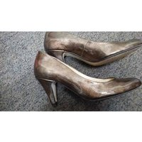 Image of Van Dal - Patent Leather - Brown Court Shoes Size 4 /EUR 37