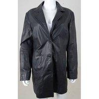 Image of Julia S Roma Size 18 Black Genuine Leather Jacket