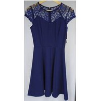 Image of BNWT - Paper Dolls - Size 8 - Navy Blue - A Line Dress With Lace Top