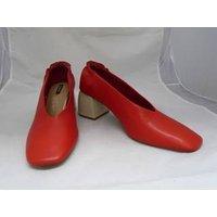 Image of Stradivarius - EU Size 39 (UK 6) - Red - Block Heeled Pumps