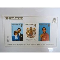 Image of Royal Wedding 1981 Commonwealth Stamps Mini Sheet - Belize