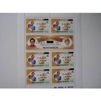 Image of Royal Wedding 1981 Commonwealth Stamps Mini Sheet - Montserrat
