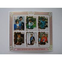 Image of Royal Wedding 1981 Commonwealth Stamps Mini Sheet - Penrhyn