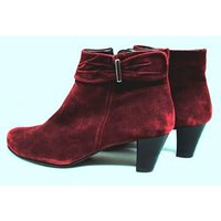 Image of M&S Marks & Spencer - Burgundy - Suede - Ankle Boots - Size 6.5