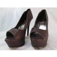 Image of Just Fab Size: 6 Brown Platform Stiletto Heels