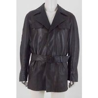 Image of Thierry Mugler Size: XL Chocolate Brown Genuine Leather Jacket