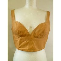 Image of BNWT H&M Conscious Exclusive Genuine Leather Crop Top size 40 EU (12 UK)