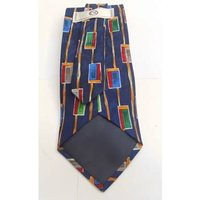 Image of C&A Vintage Inspired Blue Abstract Pattern Tie