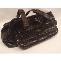 Image of Snake skin effect brown handbag from Russel & Bromley Stuart Weitzman for Russel & Bromley. - Size: M - Brown - Handbag