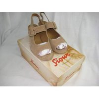 Image of Sioux Light Brown Suede Leather Peep Toe Slingbacks - size 7.5