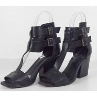 Image of The Kooples Size 5 Black Leather Heeled shoes