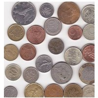 Image of A MIXED LOT OF 25 WORLD COINS.