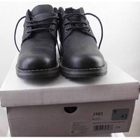Image of Mantaray Plain black boots with laces - Size: 9 - Black - Work boots