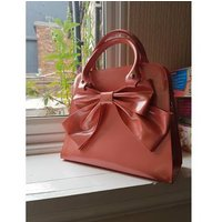 Image of Lovely orange Bow handbag. Unbranded - Size: One size - Orange