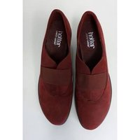 Image of Hotter Burgundy Red Suede Shoes, size 5.5