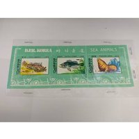 Image of DPR Korea Set of 3 mint sealed stamps THEMATIC MINIATURE SHEET - SEA ANIMALS - NORTH KOREA