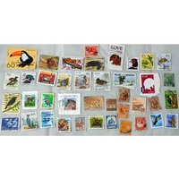Image of Collection Of Stamps - Animals And Birds Of North America, Asia, Europe And Africa.