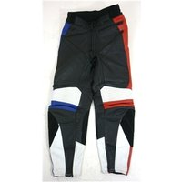 """Image of Alpine Stars [Size: 8, - 26 3/4""""/68cm] Black, Red, Blue Panel Design Motorcycle / Racing Genuine Leather Trousers"""