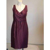 Image of Women's size 10 Kaliko linen purple cocktail dress Kaliko - Size: 10 - Purple - Cocktail dress