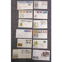 Image of 12 1st Day Covers and 5 sets of mint stamps