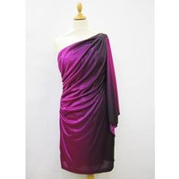 Image of Piece Hailey by Adrianna Papell size 8 magenta to purple asymmetrical dress