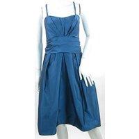 Image of BNWT Wtoo by Watters Size 14 Blue Taffeta Prom Dress