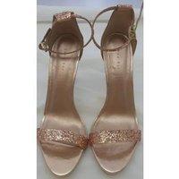 Shoe Box - Size: 8 - Gold - Slingback Stiletto Sandals