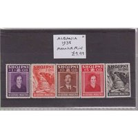 Image of Albania 1938 - 5 mounted mint stamps