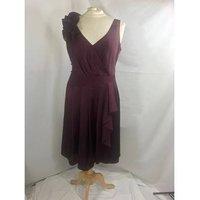 Image of M & S Per Una- size 12- plum dress BNWT M&S Marks & Spencer - Size: 12 - Purple - Cocktail dress