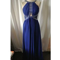 Image of Little Mistress Evening Dress, Size 10 Little Mistress - Size: 10 - Blue - Full length dress