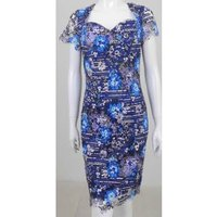 Image of Paper Dolls Size: 8 Blue lace floral midi-dress
