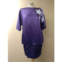 Image of Embroidered Monsoon Cocktail Dress Monsoon - Size: 10 - Purple - Cocktail dress