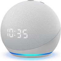 Amazon Echo Dot (4th Gen) with Clock Smart Speaker with Amazon Alexa - White